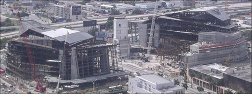 Contruction 2001-04 Courtesy of the Adrienne Arsht Center for the Performing Arts of Miami-Dade County. (See www.arshtcenter.org/About-Us/Facts--History)