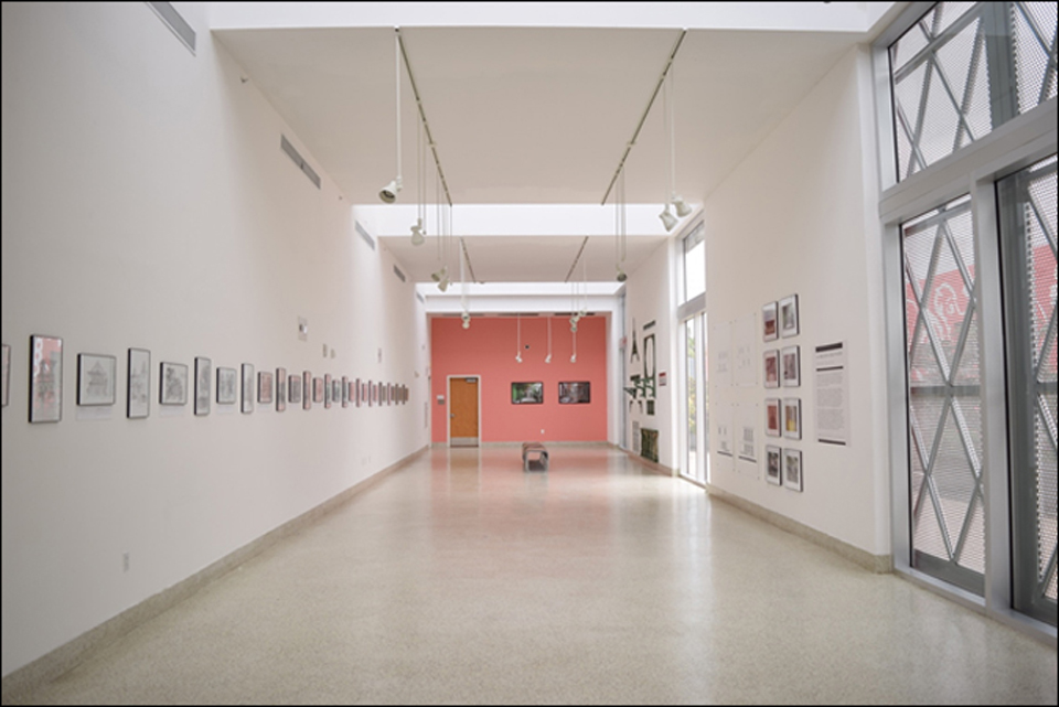 View of the exhibition space at the Little Haiti Cultural Center. Photo: Claudia & Gustavo Garcia.