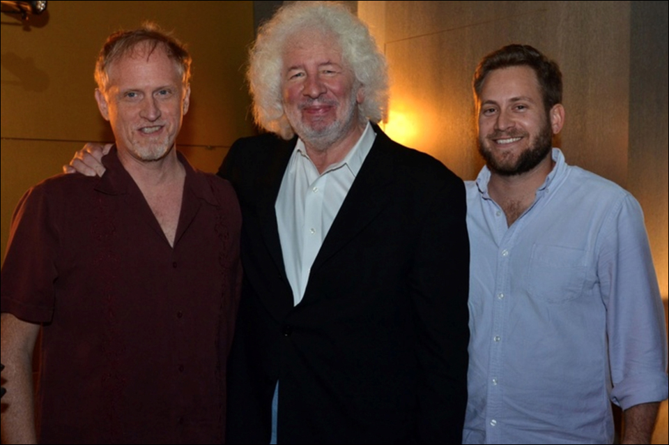 Poets Campbell McGrath, Dan Halpern, and Scott Cunningham at The Betsy's Annual Under the Influence reading during National Poetry Month. These artists are connected through the classroom with Halpern having been McGrath's Columbia Professor in the 1980s and Cunningham having studied at FIU with McGrath. (2013)