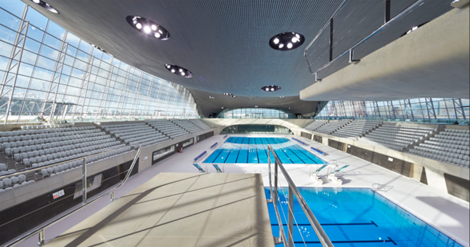 London Aquatics Centre, London, UK. Photo: Hufton + Crow. Courtesy: Zaha Hadid Architects.