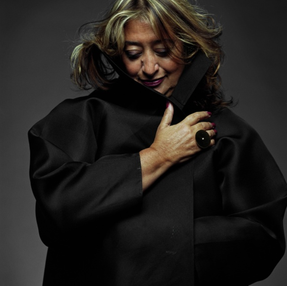 Zaha Hadid. Photo: Steve Double. Courtesy: Zaha Hadid Architects.