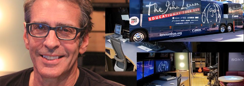 Brian Rothschild and the John Lennon Educational Tour Bus