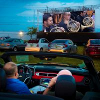 New World Symphony takes its WALLCAST to the Drive-In